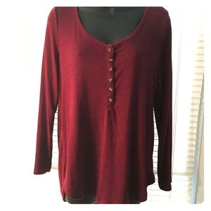 Old Navy scoop neck Henley style shirt